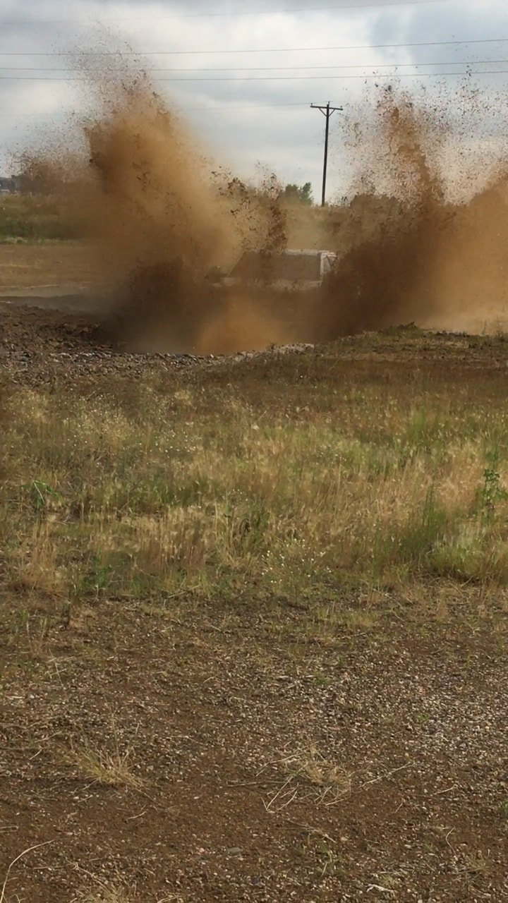 I took the Ford Super Duty through a mud pit in Colorado on the introductory launch event of the truck. Here, you can see the mud flying three times the height of the 2017 Ford Super Duty truck.