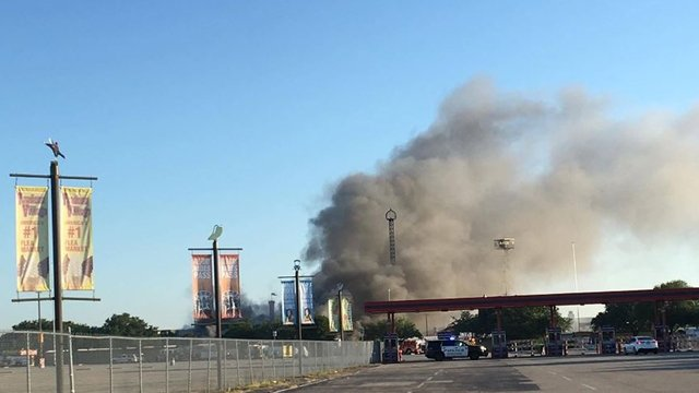 Two Alarm Fire Erupts At Traders Village