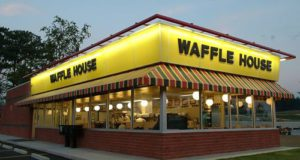 Assault rifle wielding gunman shot during Waffle House robbery