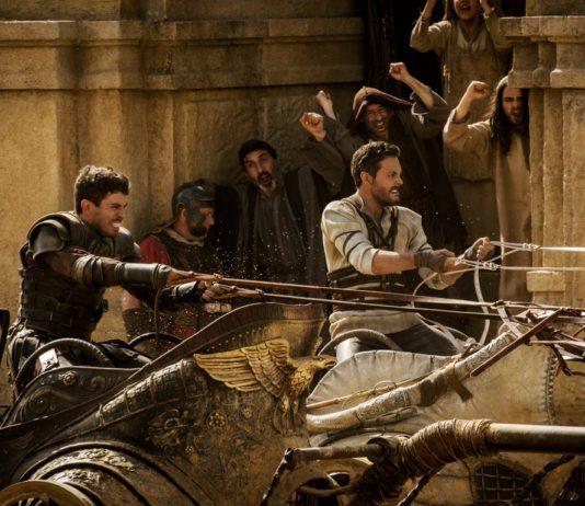 Messala and Ben Hur in chariot race