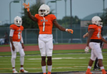 Omar Manning #1 Texas wide receiver
