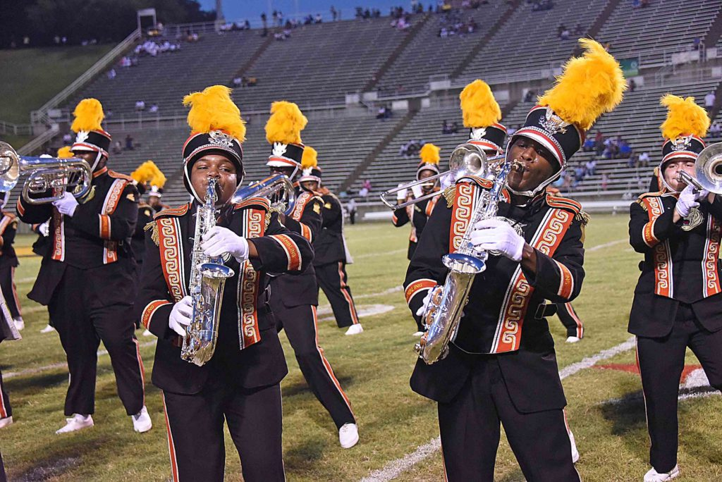 The World Famed Grambling State University Tiger Marching Band will face off against the Prairie View A&M University Marching Storm during the halftime show on October 1, 2016.