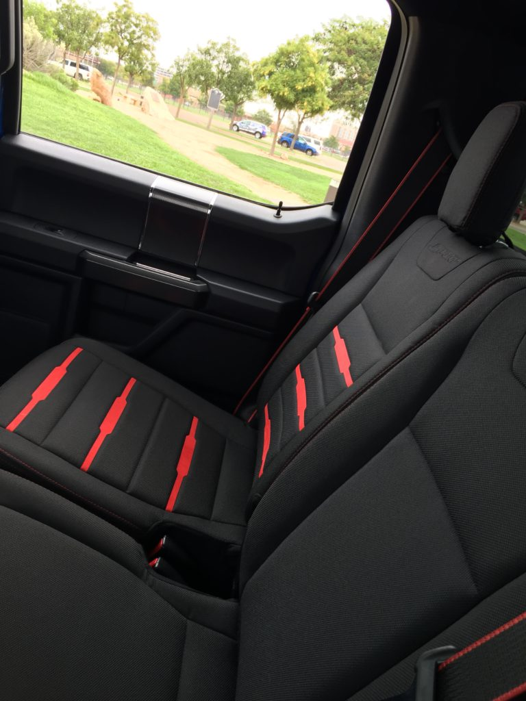 Special edition black and red accented interior on XLT sport models.