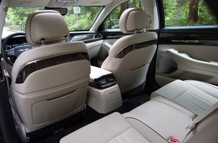 2017 Genesis G90 Rear Interior