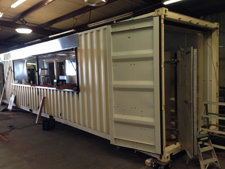 shipping container turns into new cedars backyard art bar focus