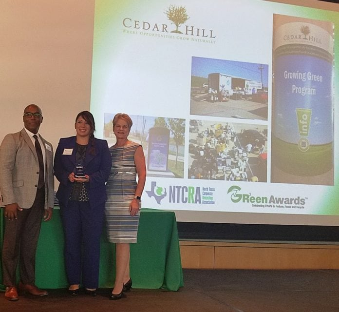 Green3 award Cedar Hill