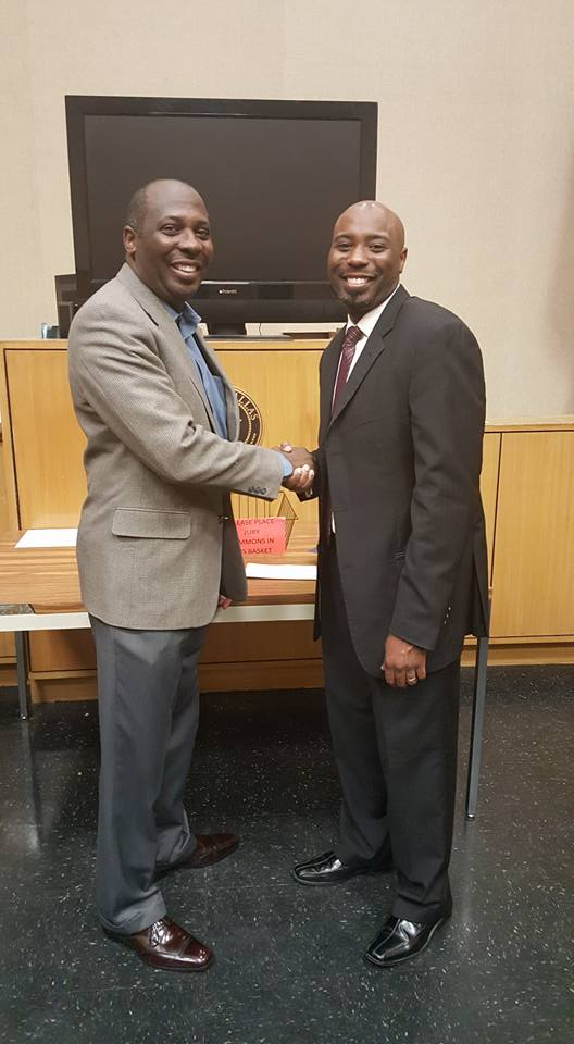 Judge Desmond L. Cooks and father Mark D. Cooks.