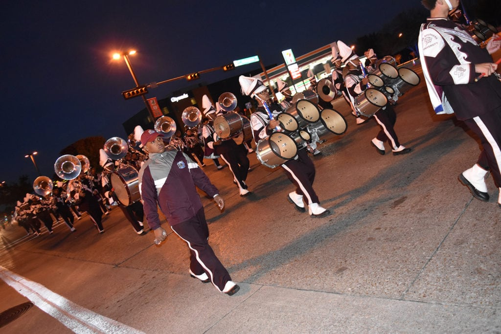 The 43rd Hometown Holiday Parade was led by Grand Marshall Coach Freddie L. James (Carter HS - 1988), followed by the Texas Southern University Ocean Of Soul Marching Band, Alumni and Mr. & Mrs. TSU. (Carolyn Campbell/Special Contributor)