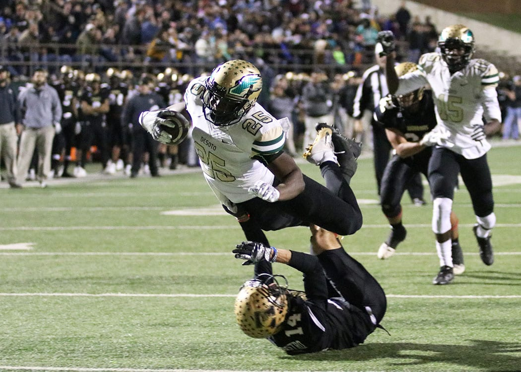 Desoto Wins Semifinals Rises Above Abilene Eagles 49 45 Focus