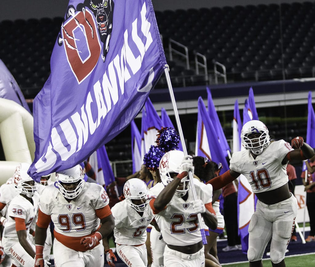 The Duncanville Panthers take the field at AT&T Stadium, Saturday, December 3 against the Allen Eagles.