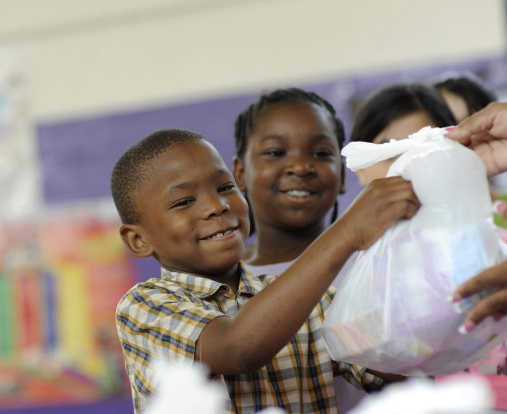 North Texas Food Bank, located in Dallas, TX, runs a BackPack Program for children at risk of hunger. Feeding America's BackPack Program, administered through network food banks, provides food to kids for weekends and school vacations.