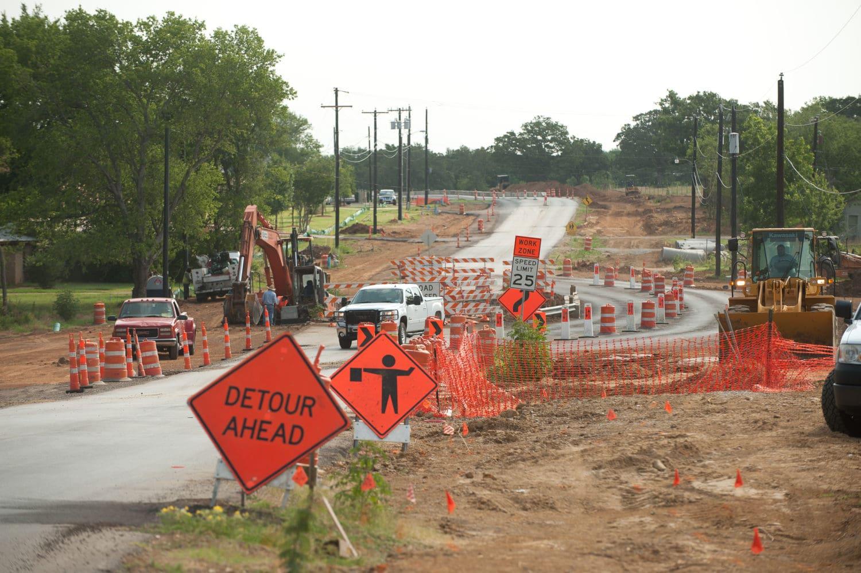Mansfield road work