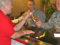 troops at DFW airport