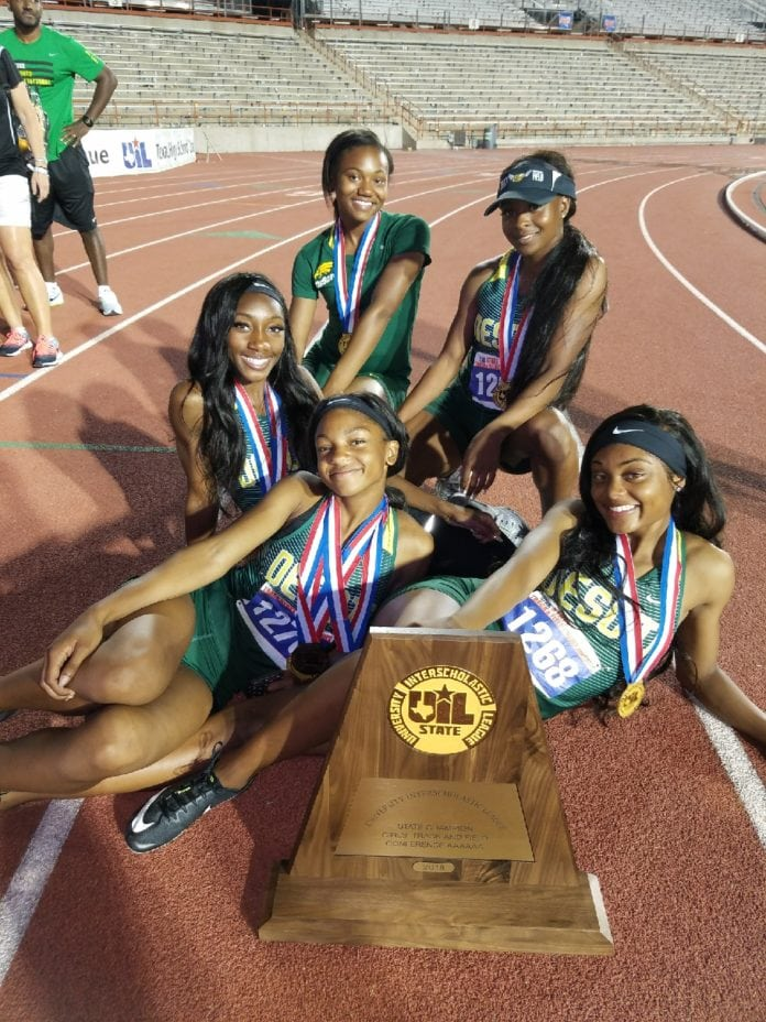 DeSoto girls track team