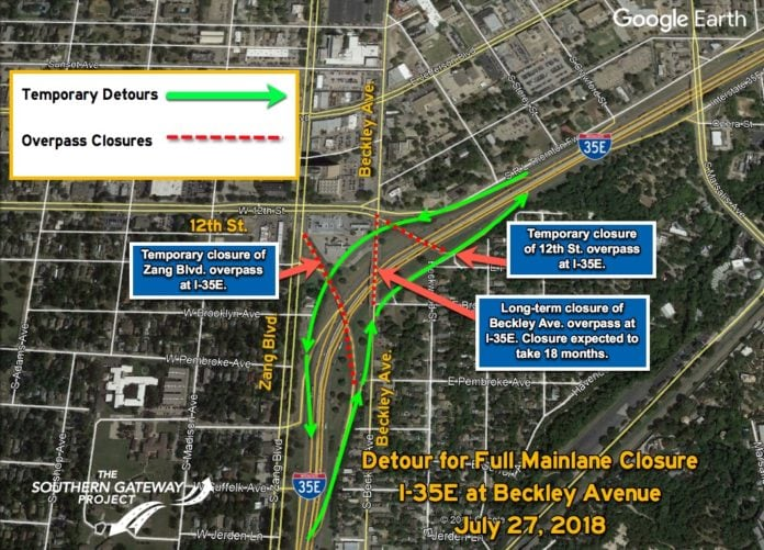 I35E Mainlane Closure
