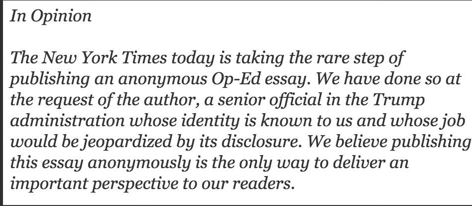 NYT Op Ed