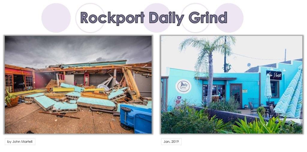 Rockport Before, After Harvey