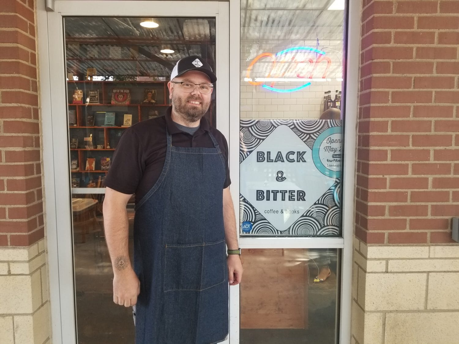 Cozy Coffee Shop, Black & Bitter Coffee and Books Opens
