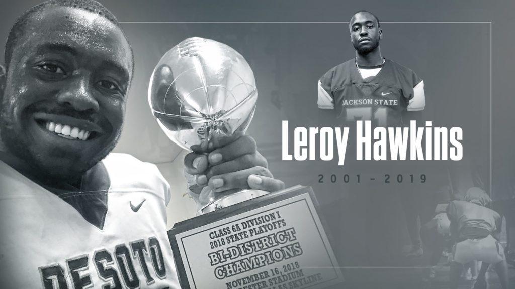 Jackson State Tribute to prospective student Leroy Hawkins, III.