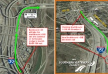 southbound I-35E exit ramp