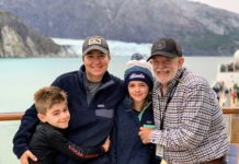Family on NCL Jewel at Hubbard Glacier