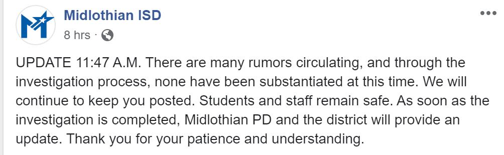 MISD Lockdown Update 3