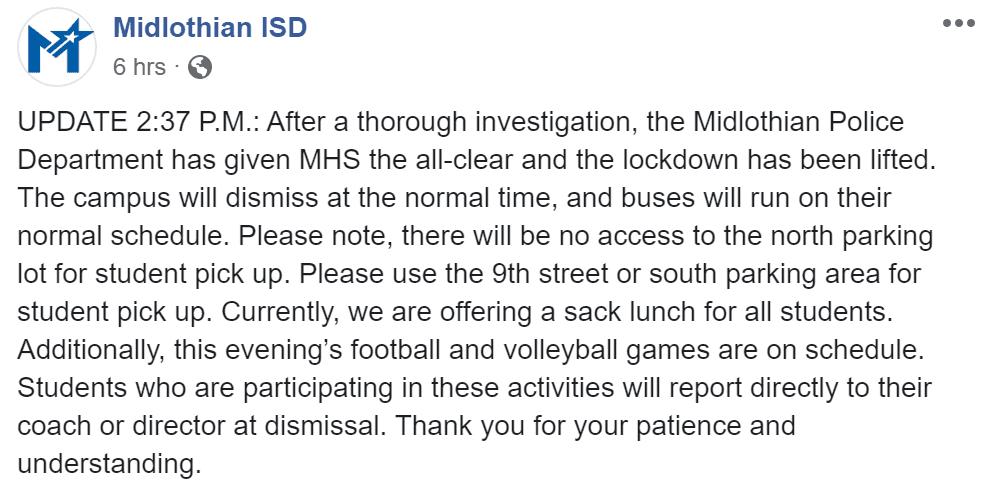 MISD FB Update