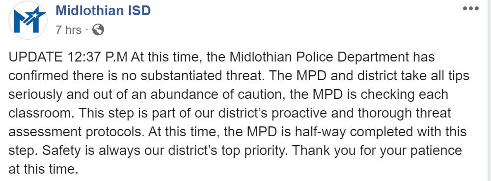 Midlothian ISD FB Update