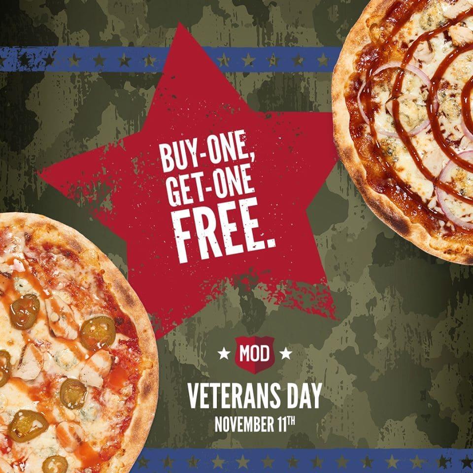Mod Pizza veterans Day