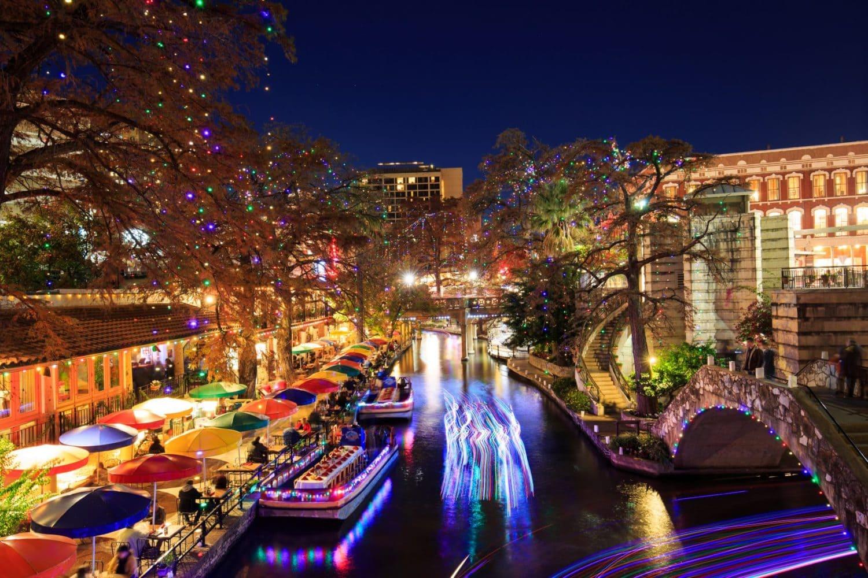 San Antonio River walk lights