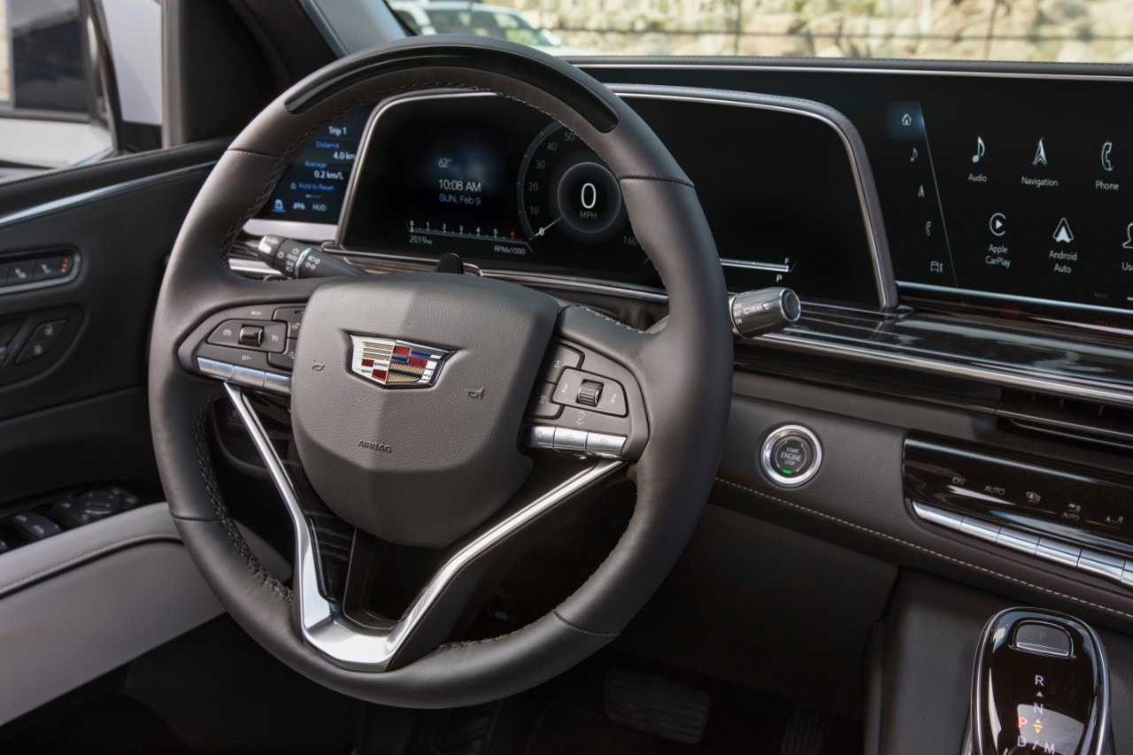 2021 Escalade OLED curved screen