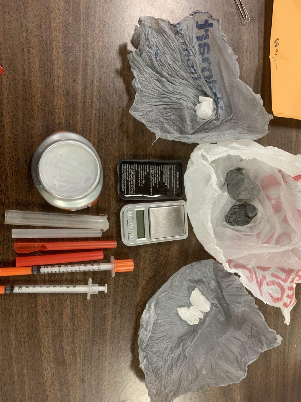 Gray heroin drug paraphernalia