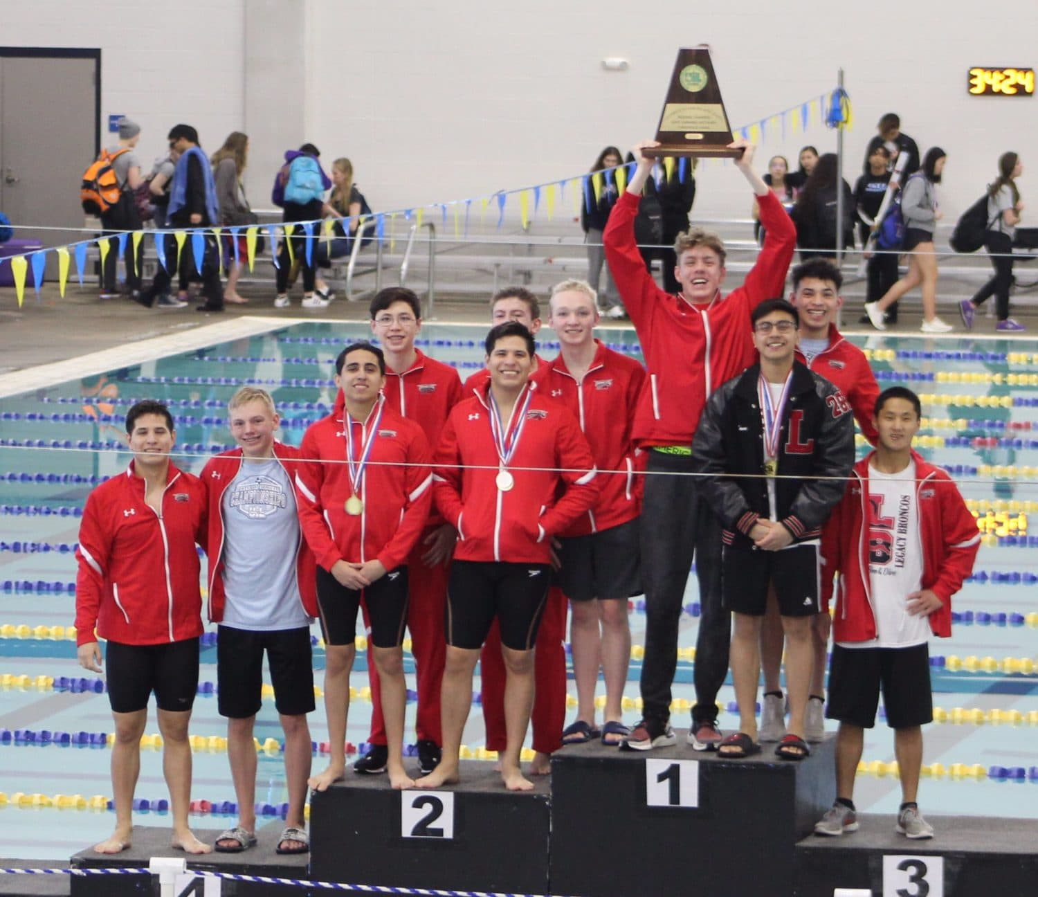 Mansfield ISD swimming and diving regional champions