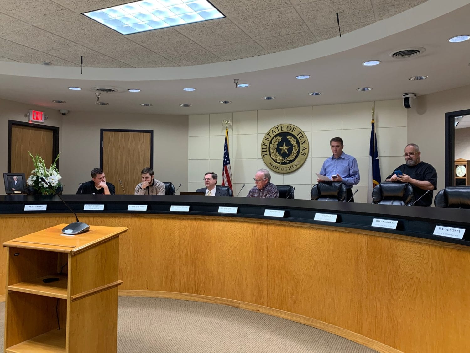 Last night, the Midlothian City Council unanimously approved a 14-day declaration of state of local disaster at its regular meeting.
