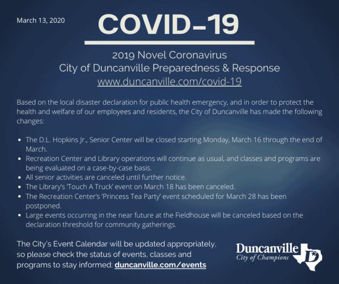 Duncanville COVID-19