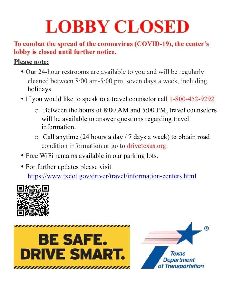 TxDOT travel information center lobbies
