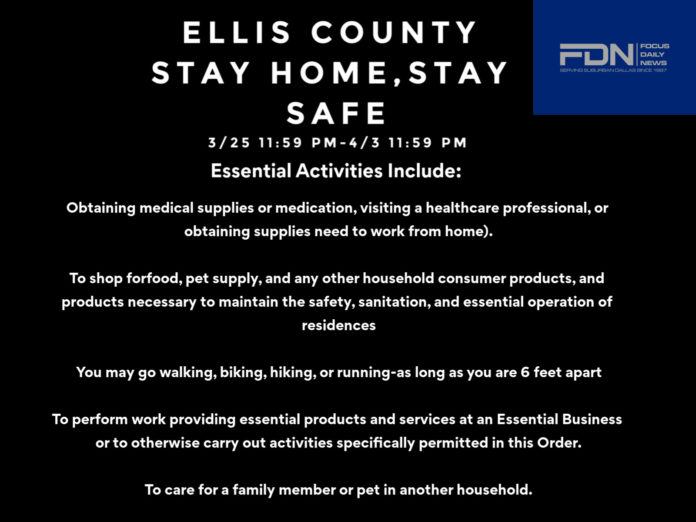 Ellis County stay home stay safe
