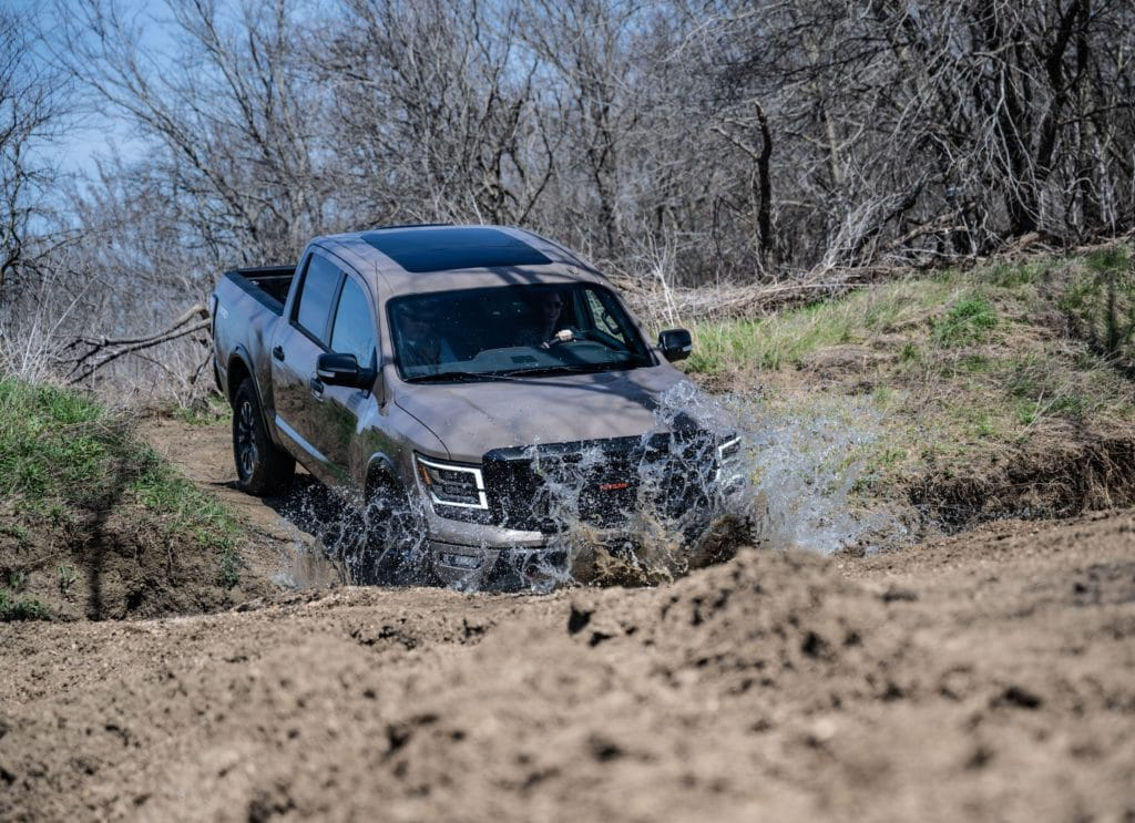 Nissan Tests Titans at Blaine Stone Lodge