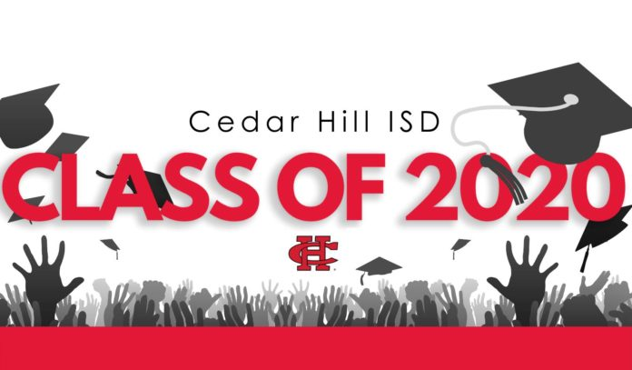 Class of 2020 graduation ceremonies for Cedar Hill High School and Collegiate High School will be held at 6 p.m. on Tuesday, June 9 at Texas Motorplex,