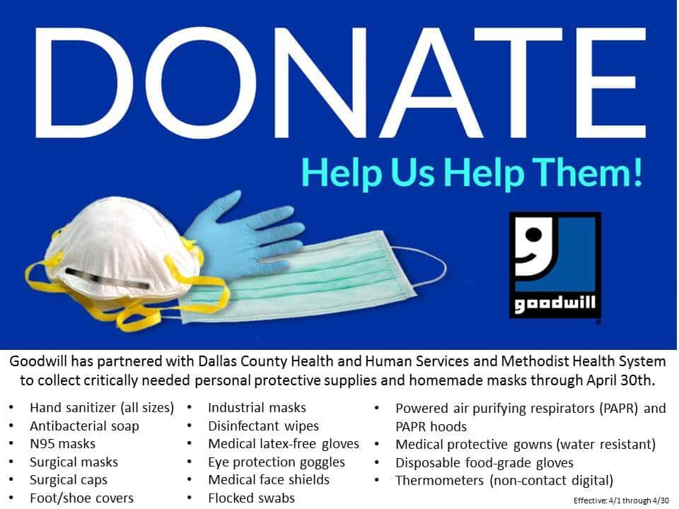 goodwill dallas donations