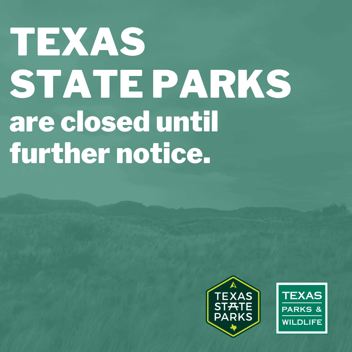 Texas state parks closed