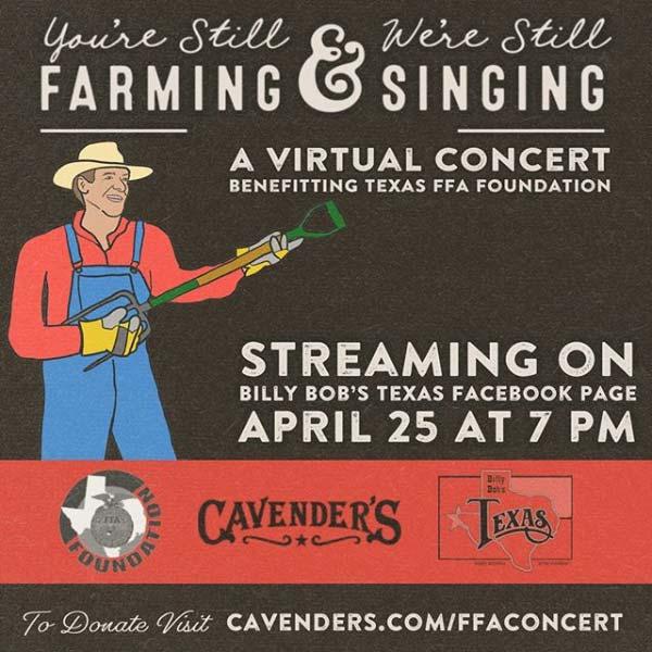 billy bob's virtual benefit concert