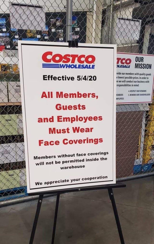 Costco masks