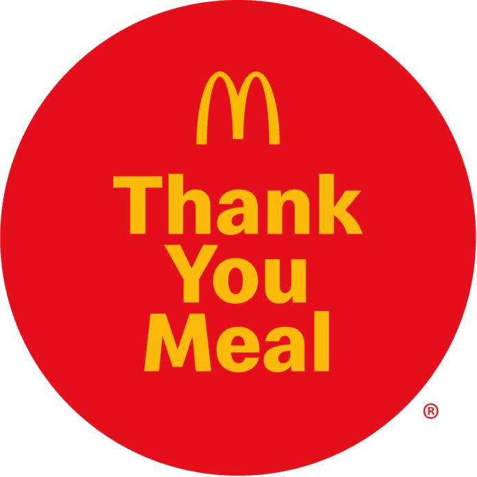McDonald's thank you meals
