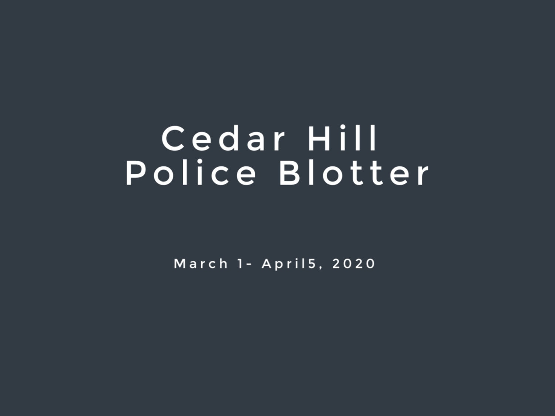 Cedar Hill Police Blotter March 2020