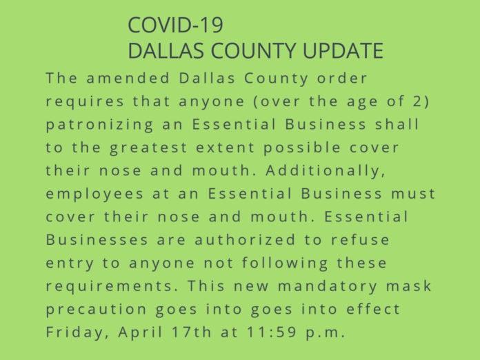Dallas County mask order