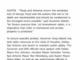 Texas ongoing protests