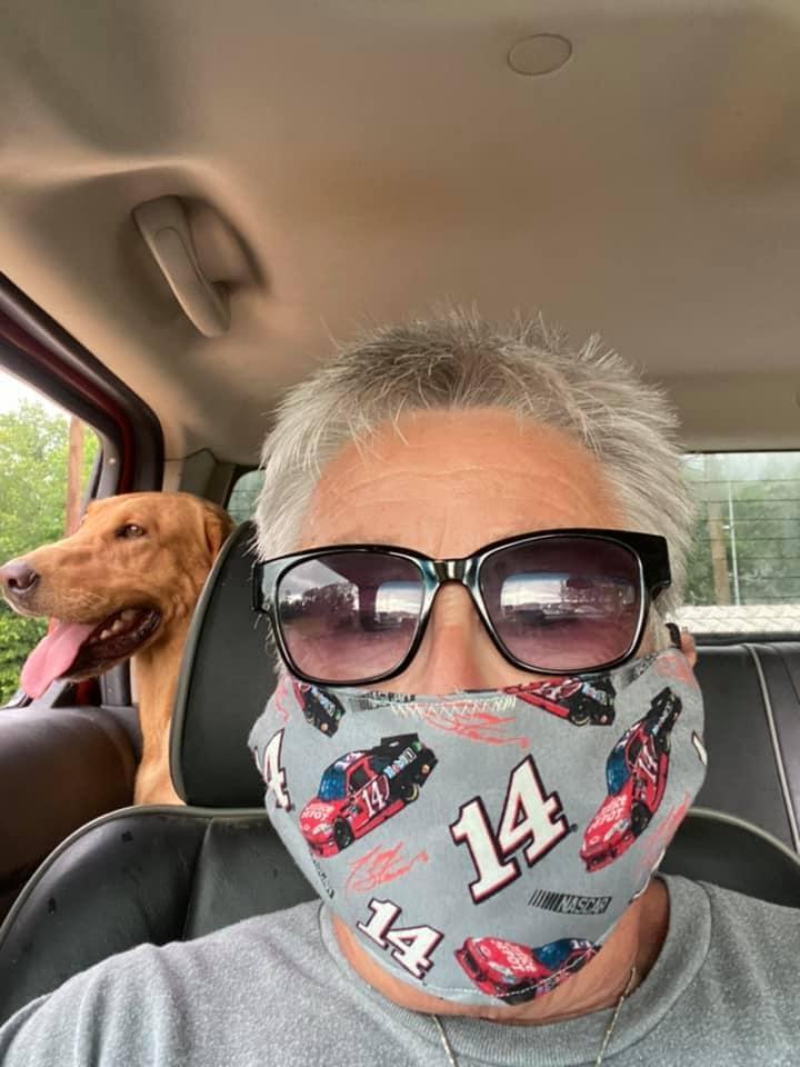 Lyn Bell NASCAR face mask