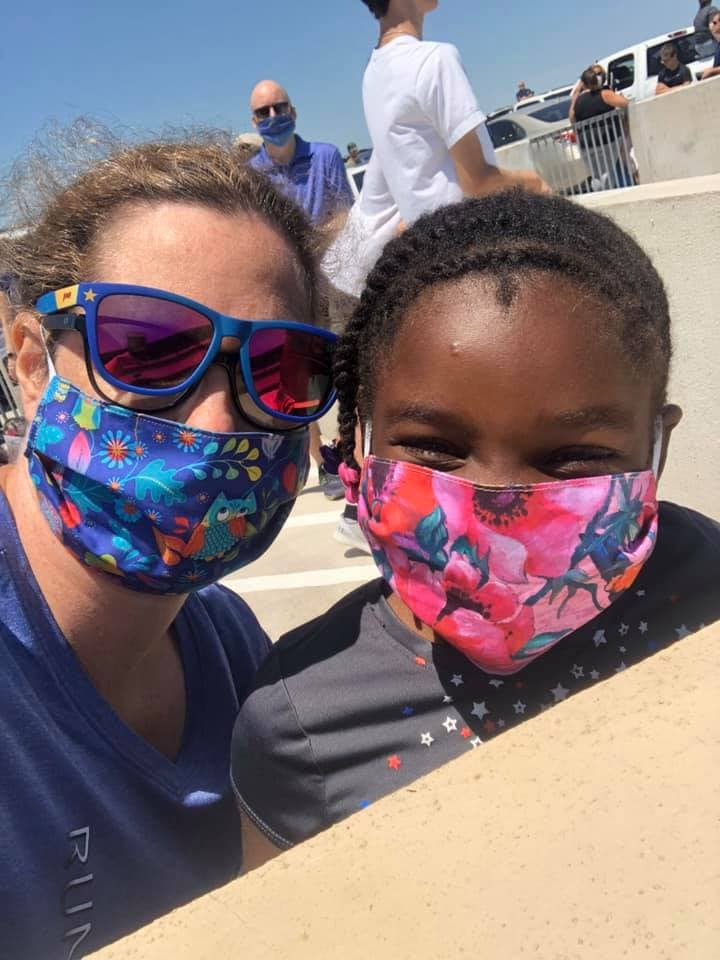 Adult and child face mask