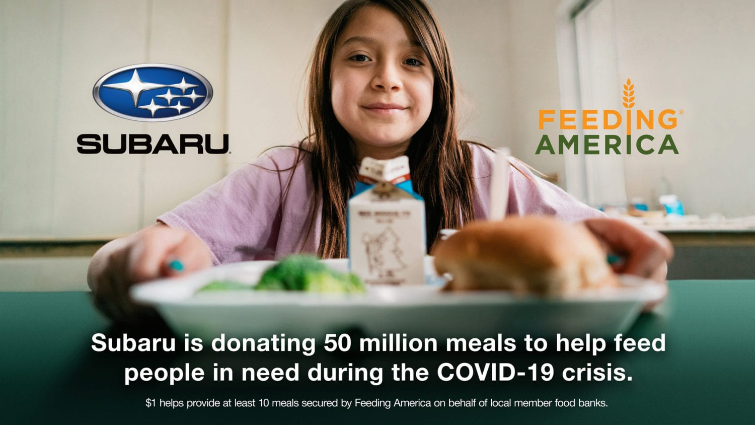 Subaru of America Partners with Feeding America to Help Provide 50 Million Meals to Help Fight Effects of Covid-19 Pandemic